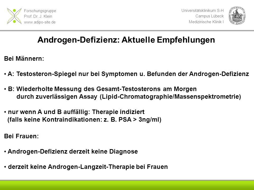 Androgen-Defizienz: Aktuelle Empfehlungen