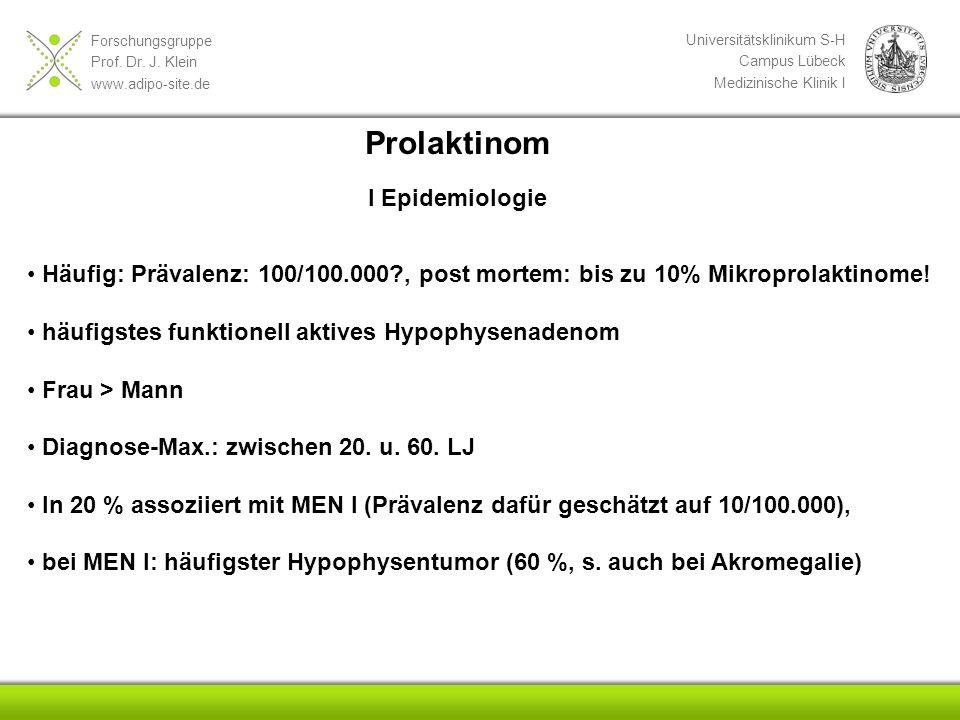 Prolaktinom I Epidemiologie