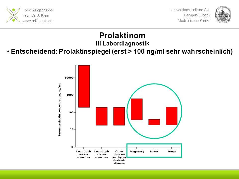 Prolaktinom III Labordiagnostik.