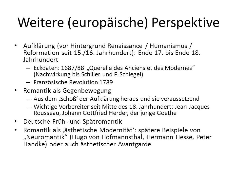 Weitere (europäische) Perspektive