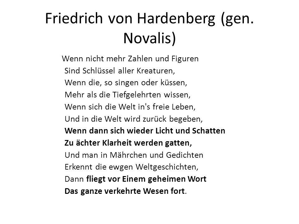 Friedrich von Hardenberg (gen. Novalis)