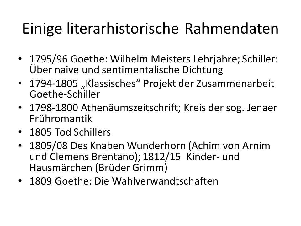 Einige literarhistorische Rahmendaten