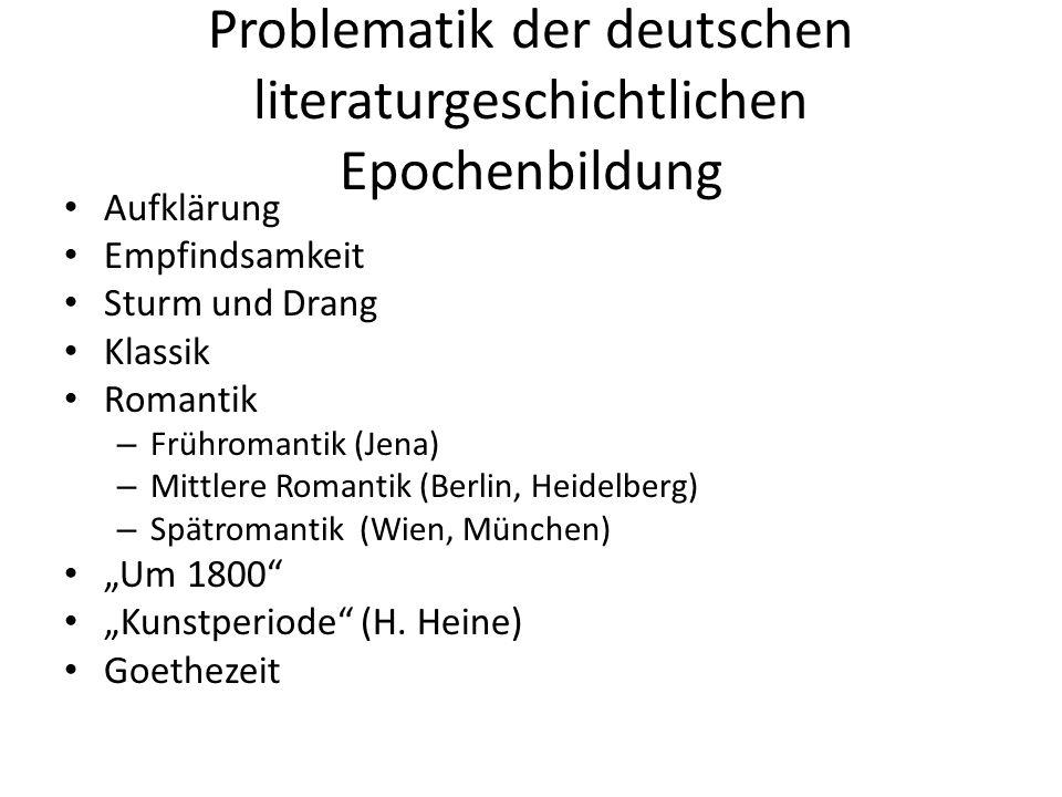 Problematik der deutschen literaturgeschichtlichen Epochenbildung