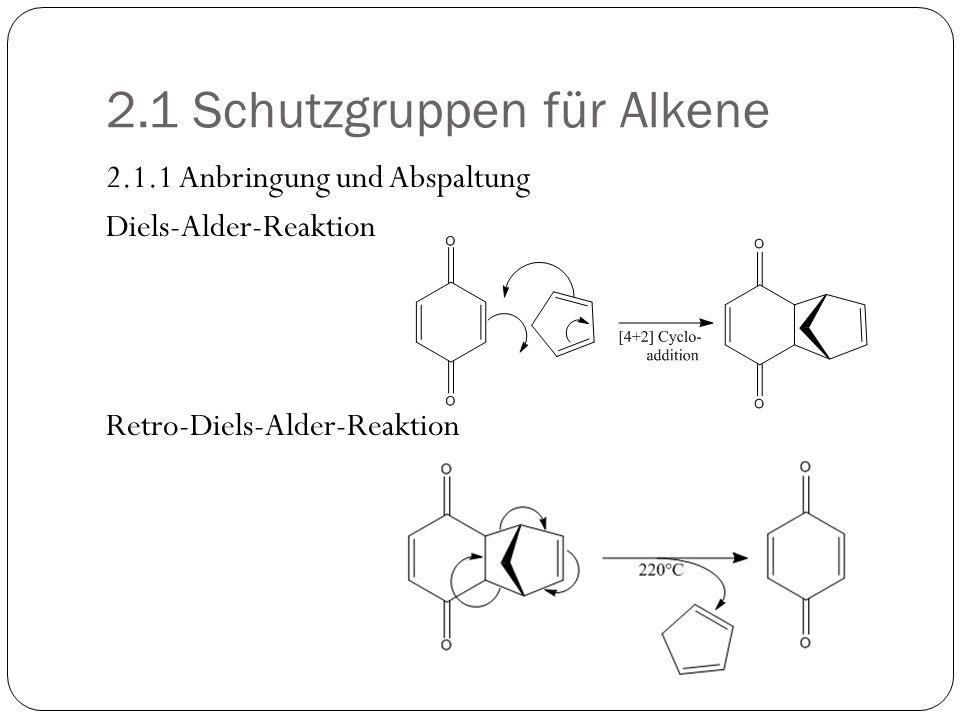 2.1 Schutzgruppen für Alkene
