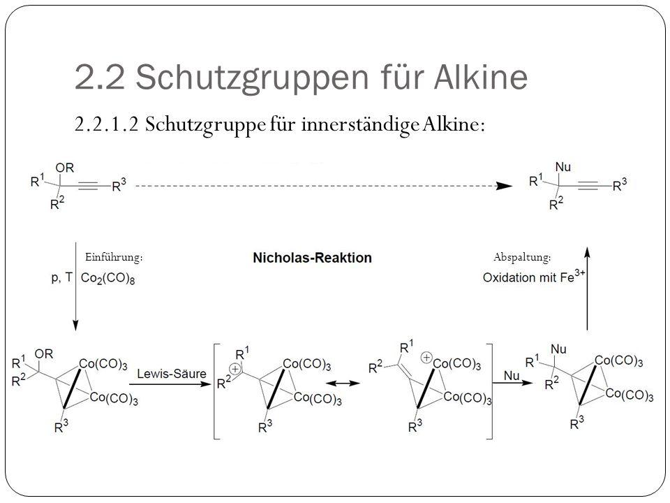 2.2 Schutzgruppen für Alkine
