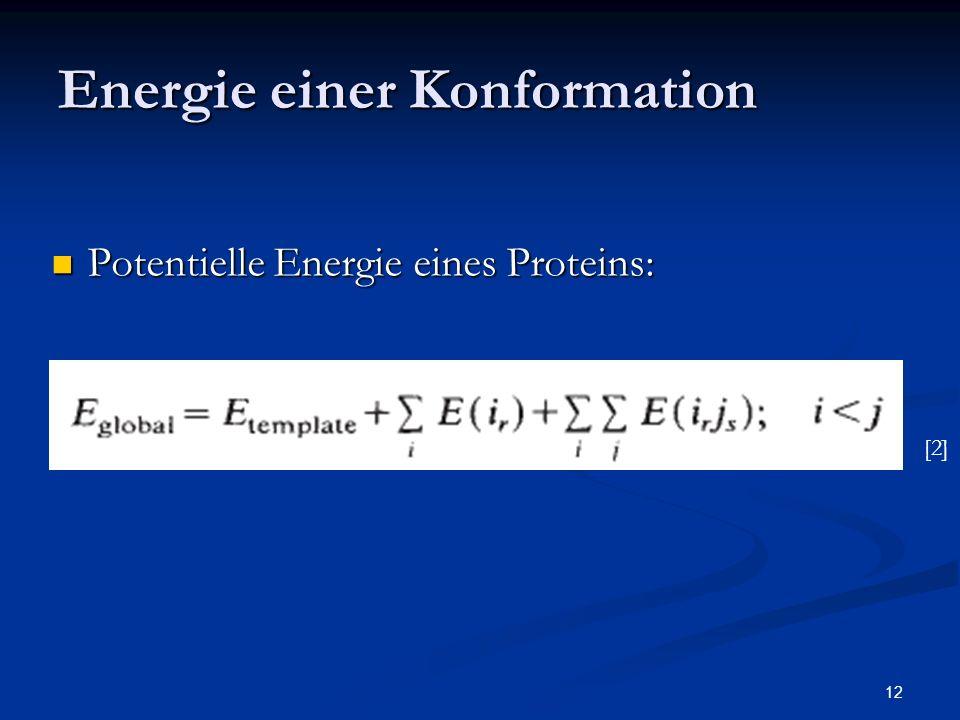 Energie einer Konformation