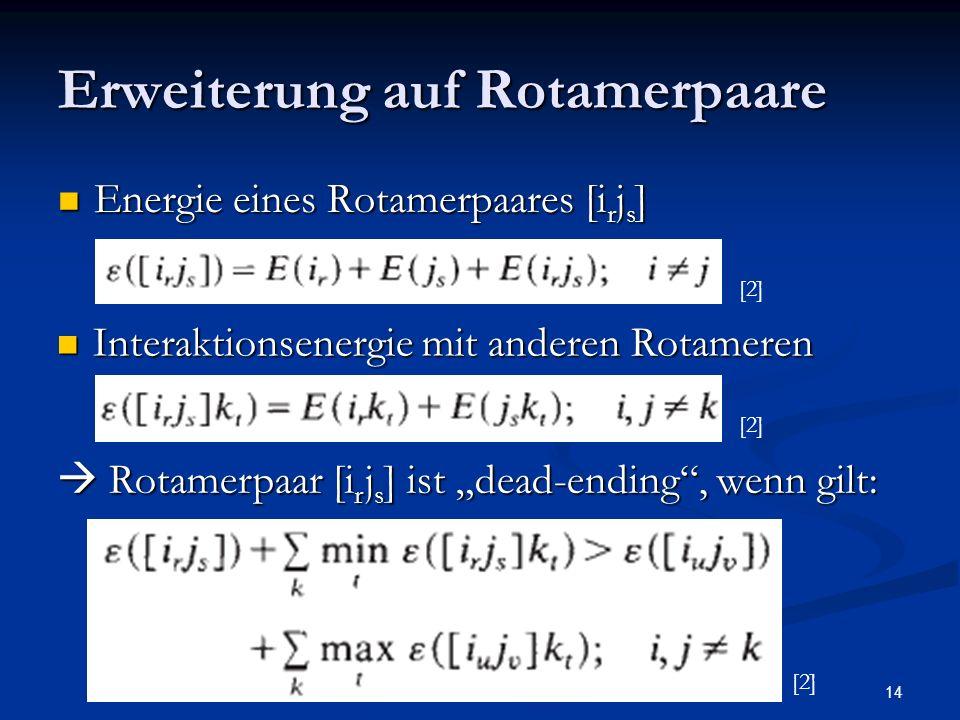 Erweiterung auf Rotamerpaare