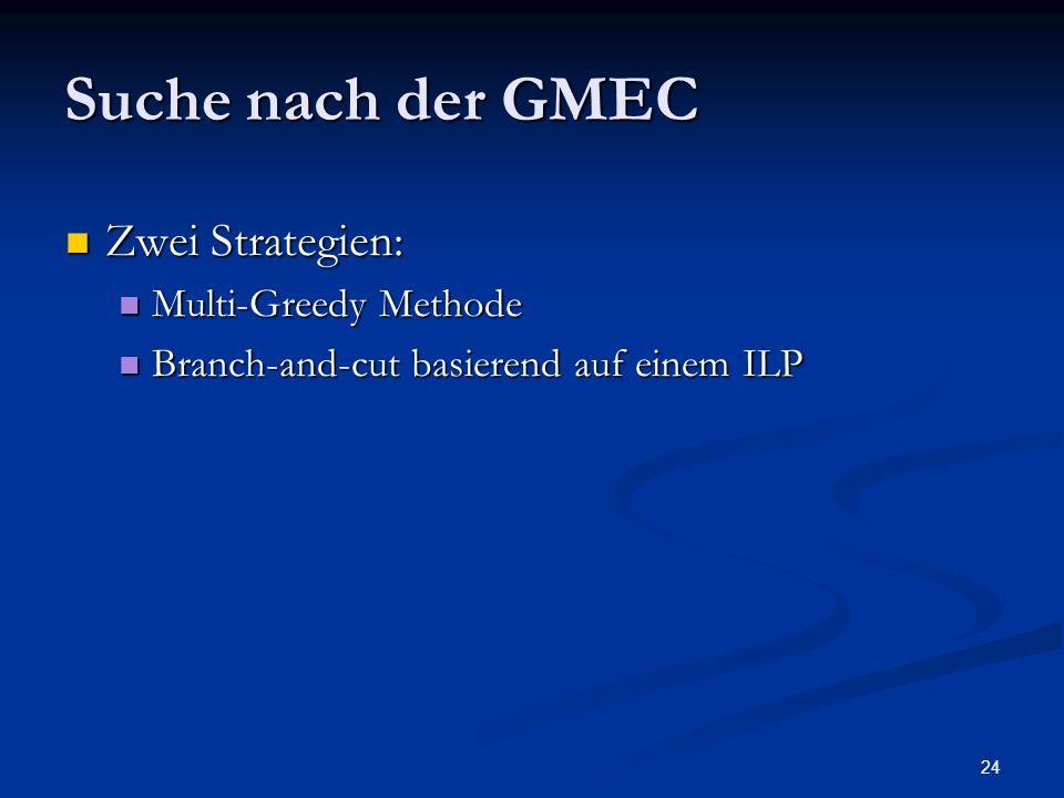 Suche nach der GMEC Zwei Strategien: Multi-Greedy Methode