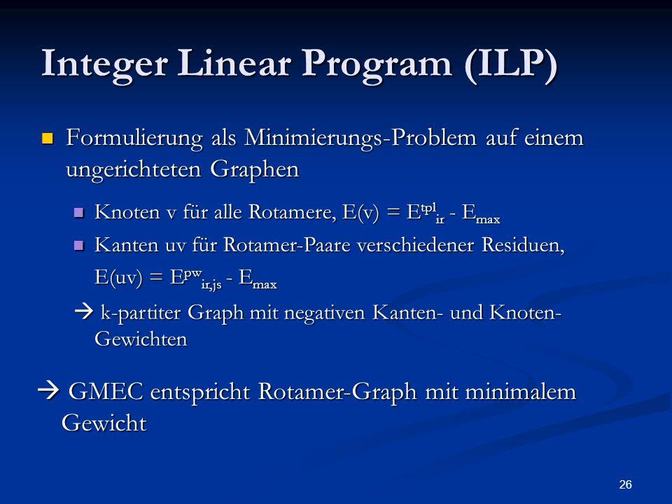 Integer Linear Program (ILP)
