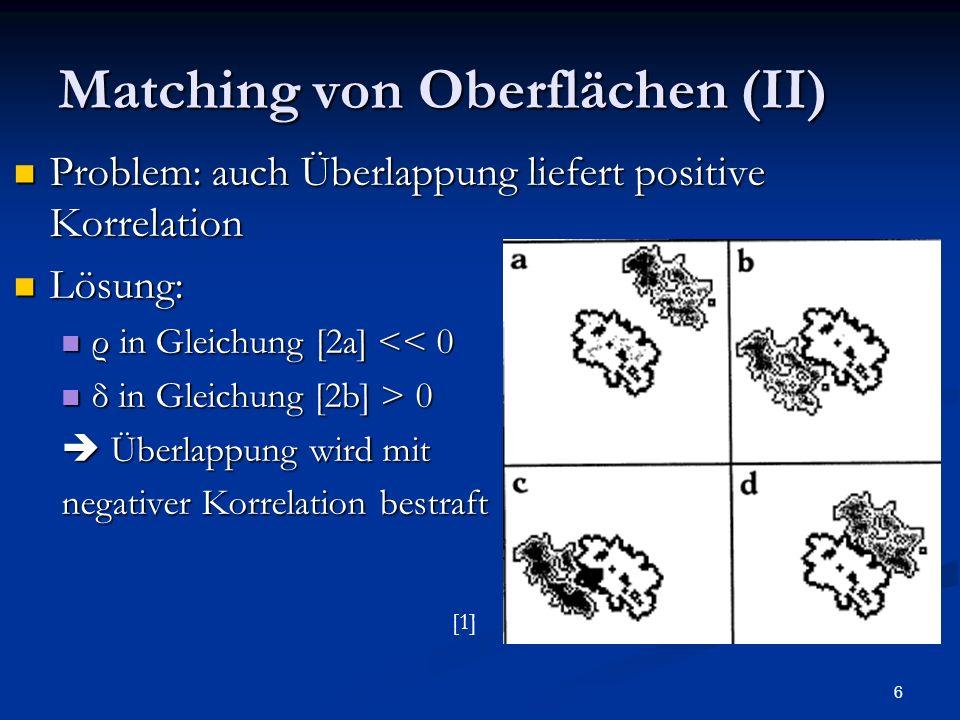 Matching von Oberflächen (II)