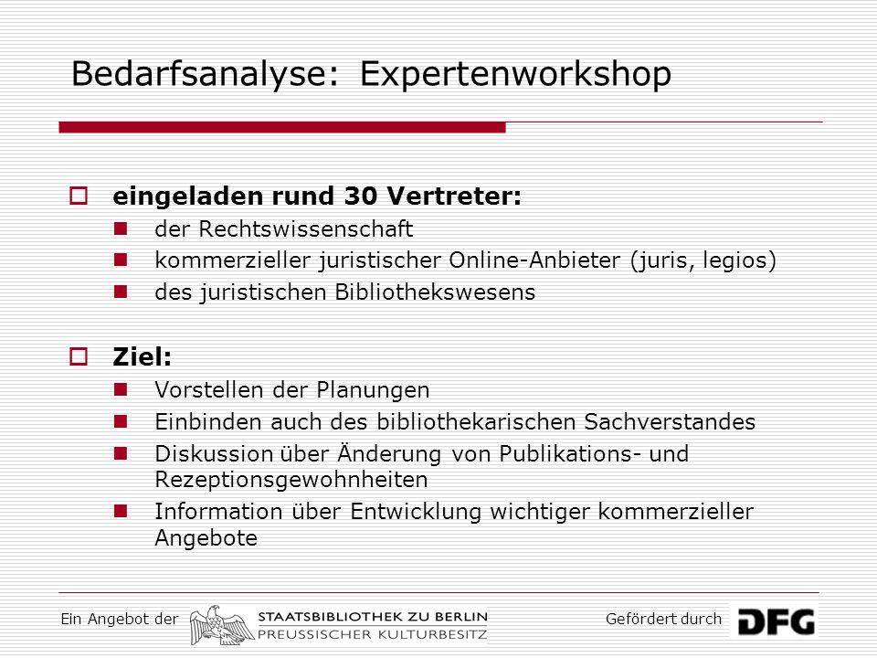 Bedarfsanalyse: Expertenworkshop