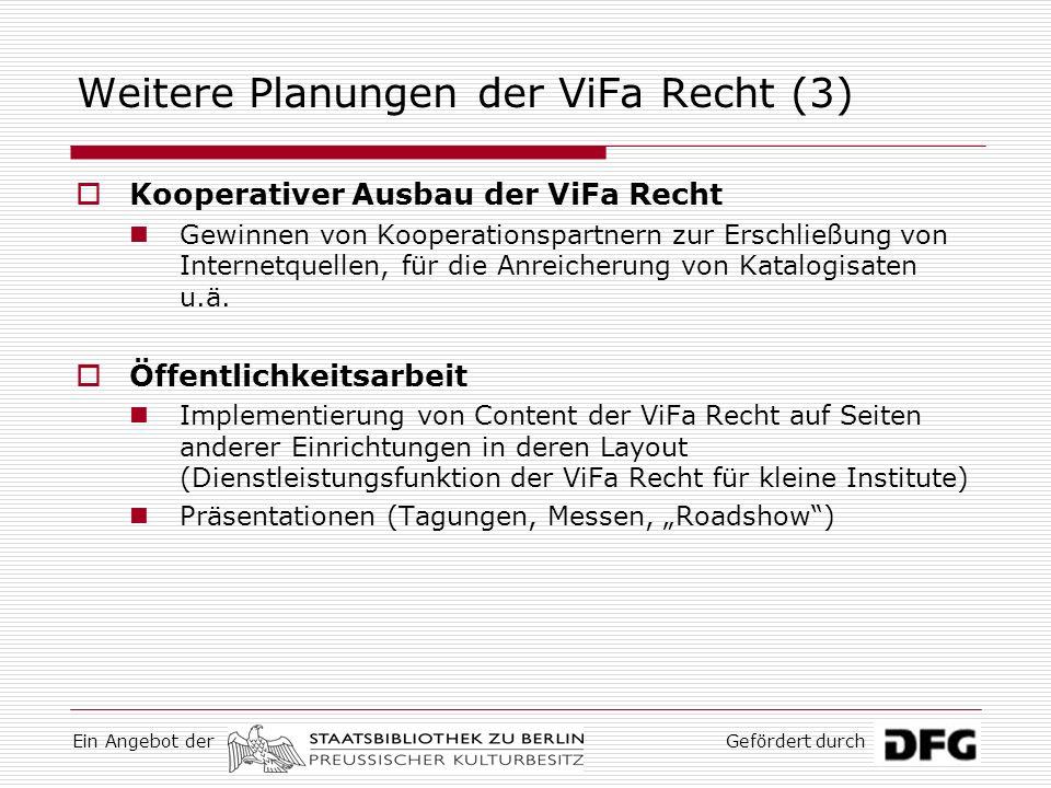 Weitere Planungen der ViFa Recht (3)