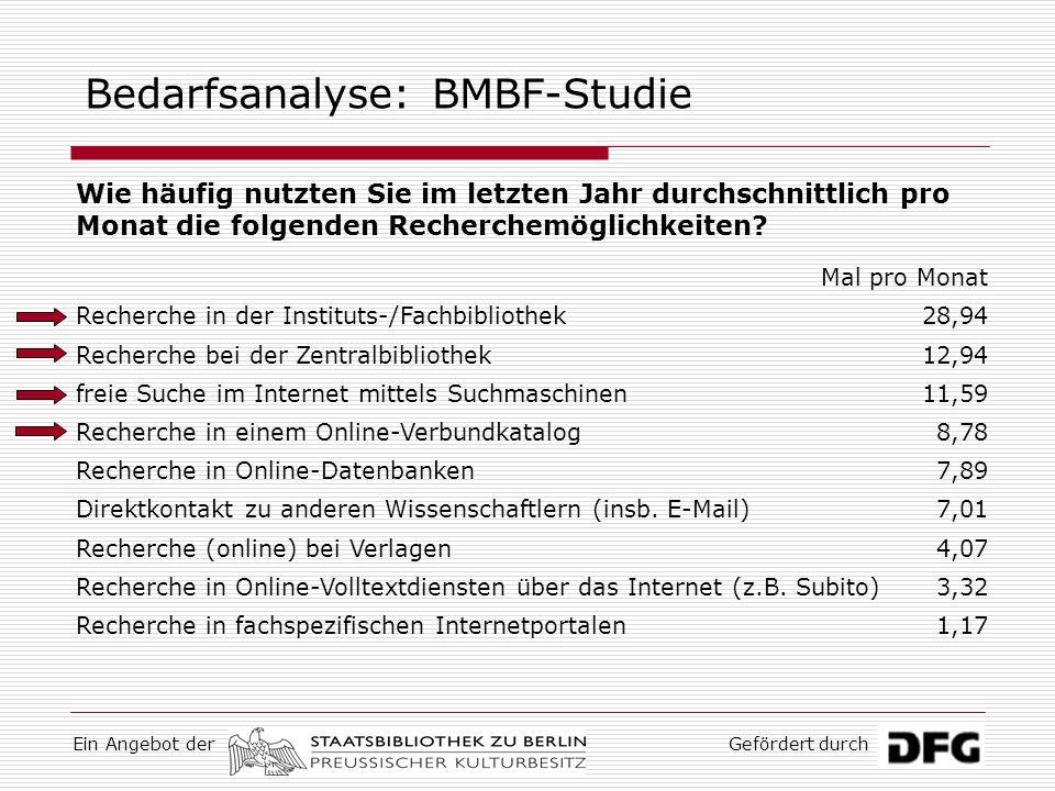 Bedarfsanalyse: BMBF-Studie
