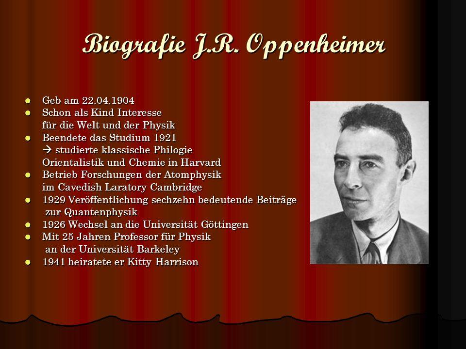 Biografie J.R. Oppenheimer