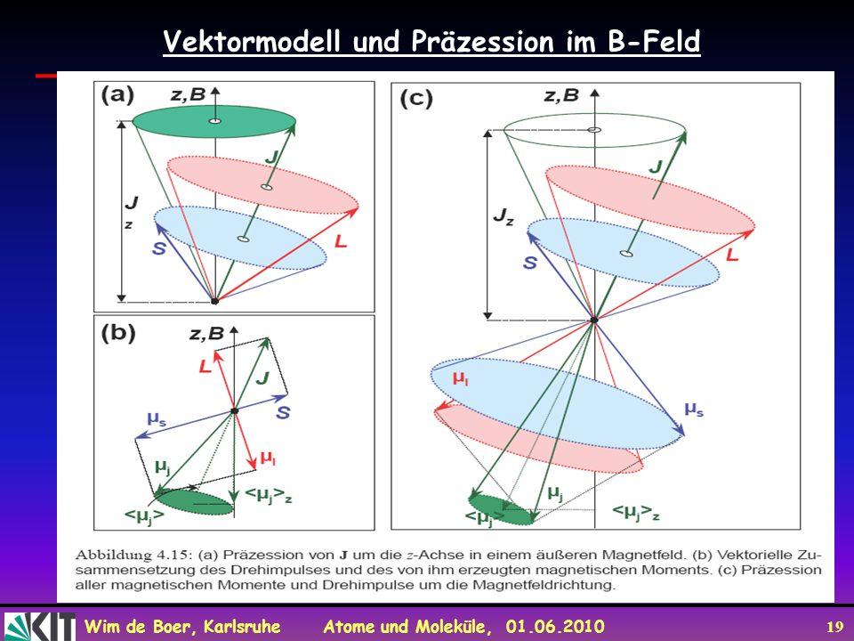 Vektormodell und Präzession im B-Feld