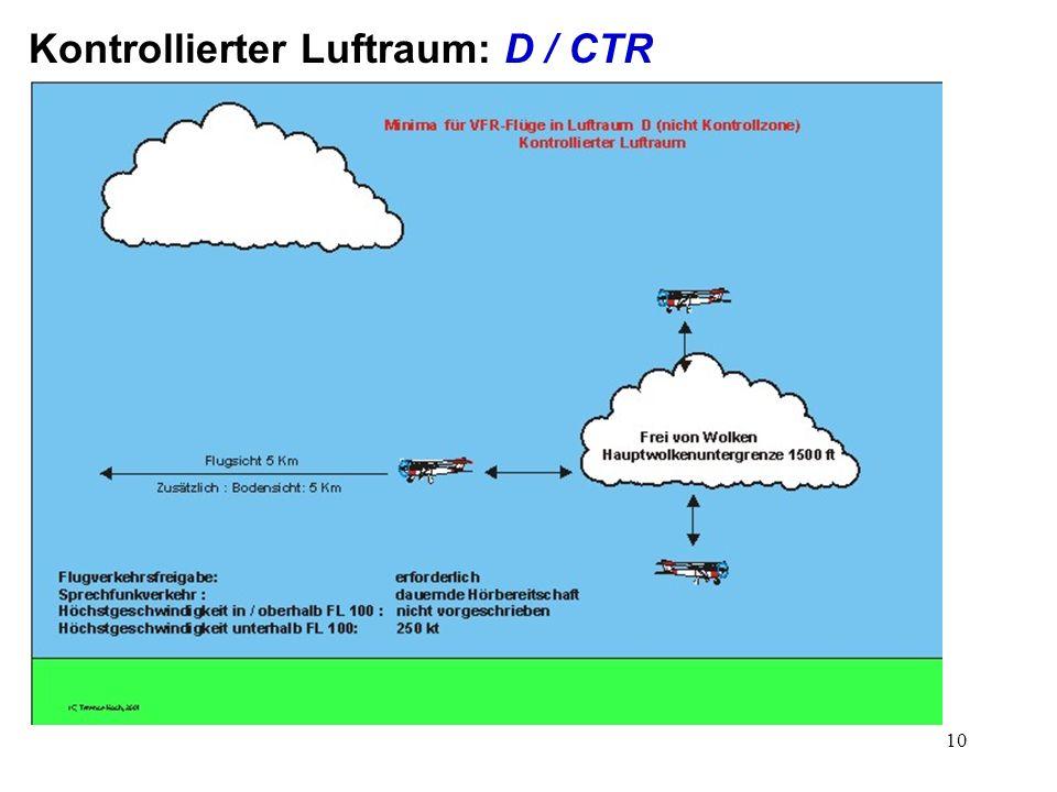 Kontrollierter Luftraum: D / CTR