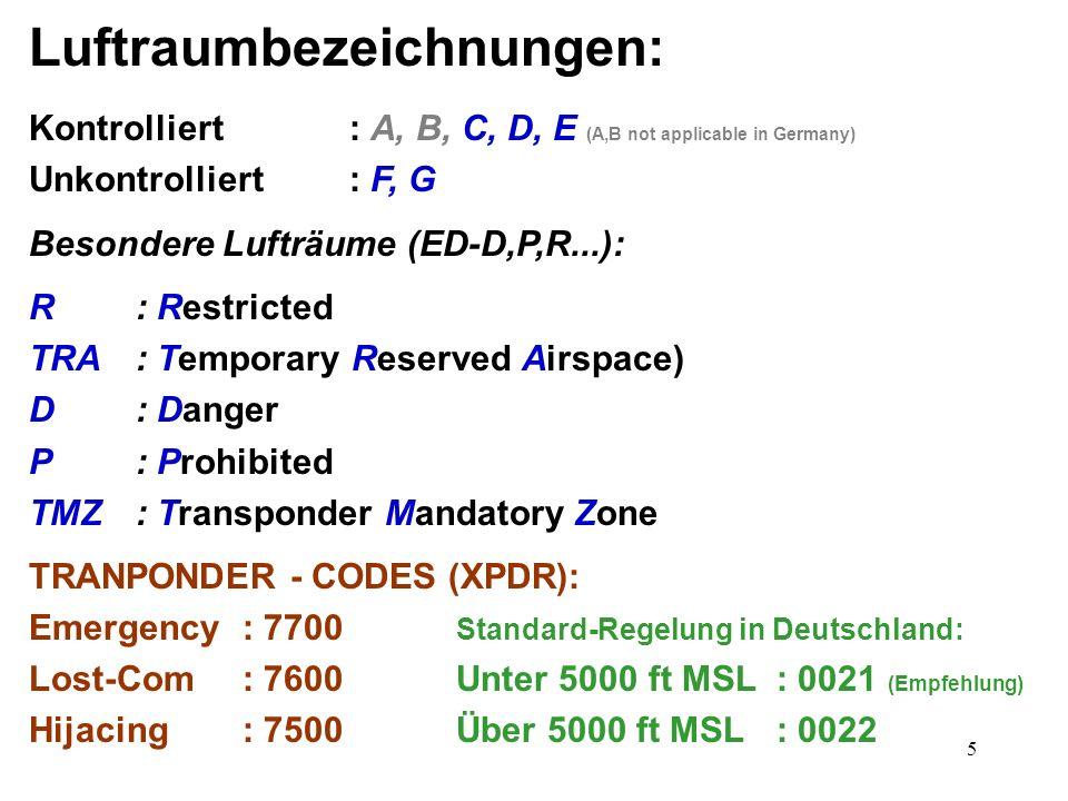 Luftraumbezeichnungen: