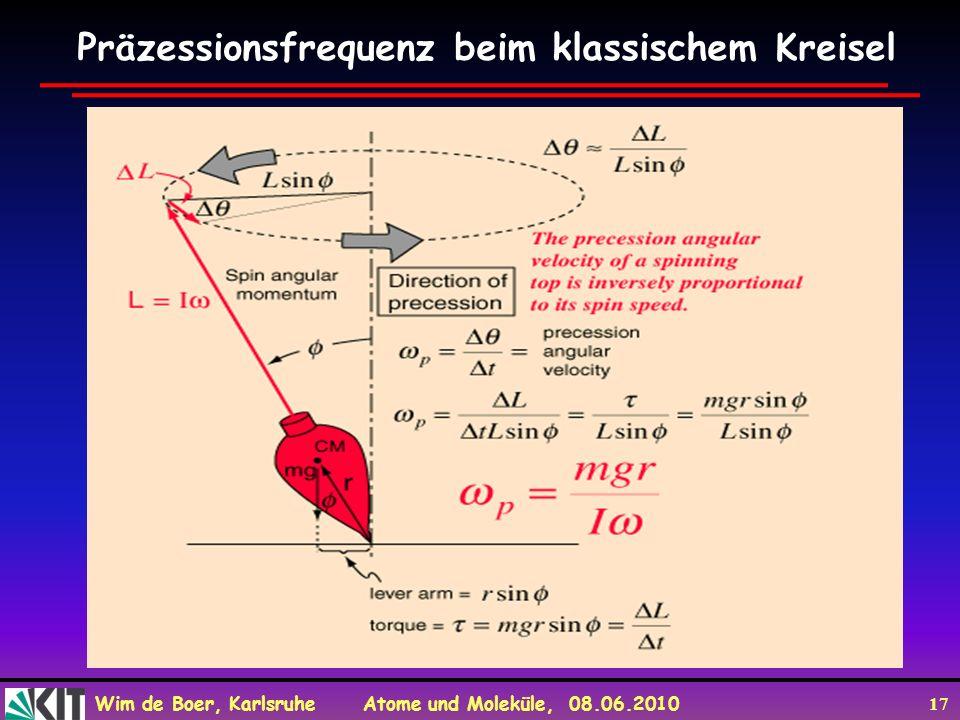 Präzessionsfrequenz beim klassischem Kreisel