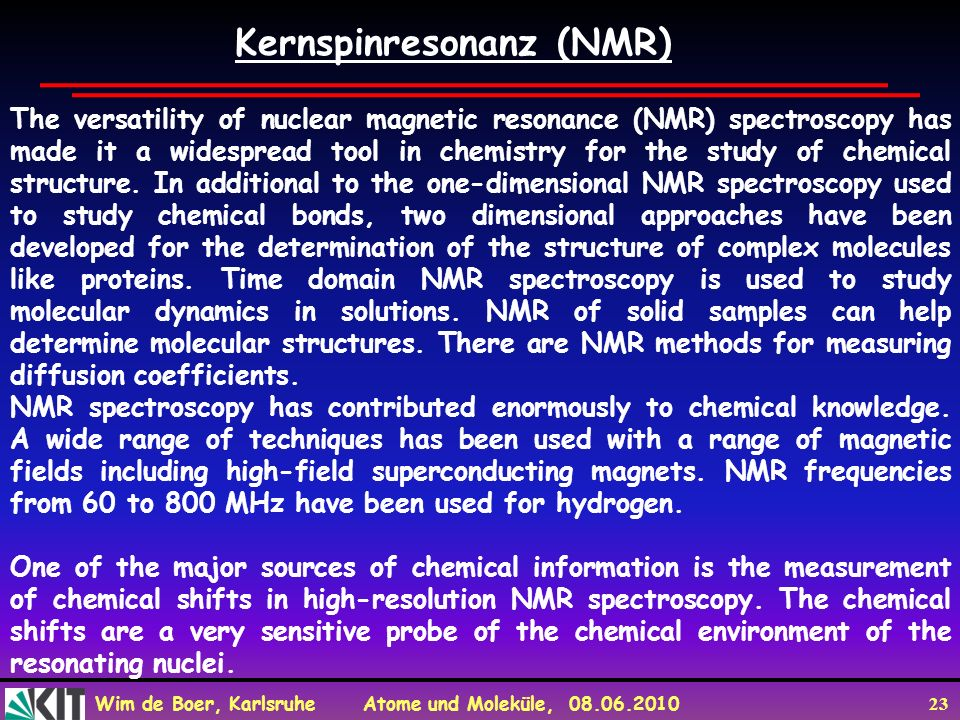 Kernspinresonanz (NMR)