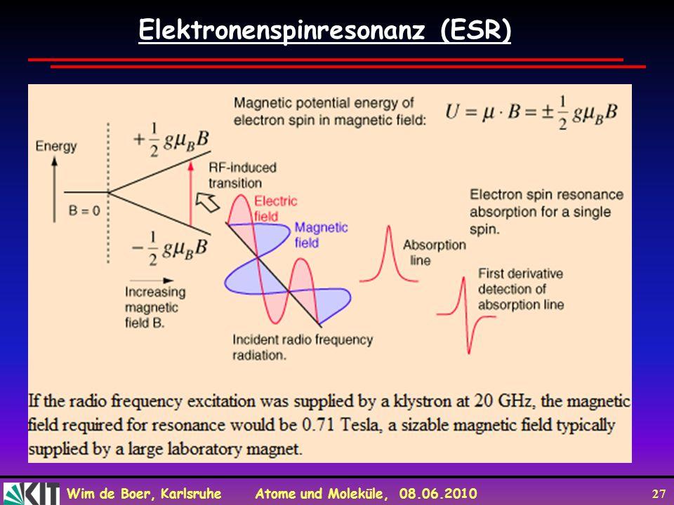 Elektronenspinresonanz (ESR)