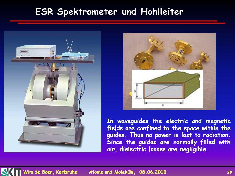 ESR Spektrometer und Hohlleiter