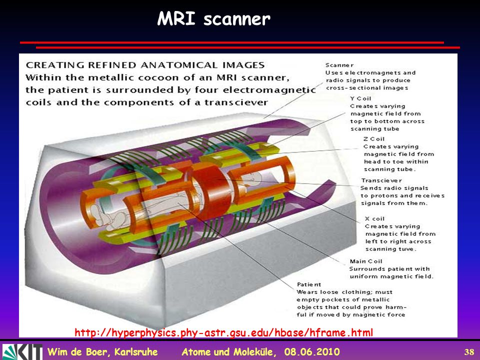 MRI scanner http://hyperphysics.phy-astr.gsu.edu/hbase/hframe.html
