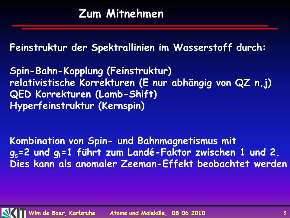 Zum Mitnehmen Feinstruktur der Spektrallinien im Wasserstoff durch: