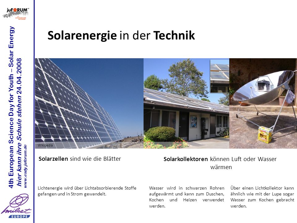 Solarenergie in der Technik