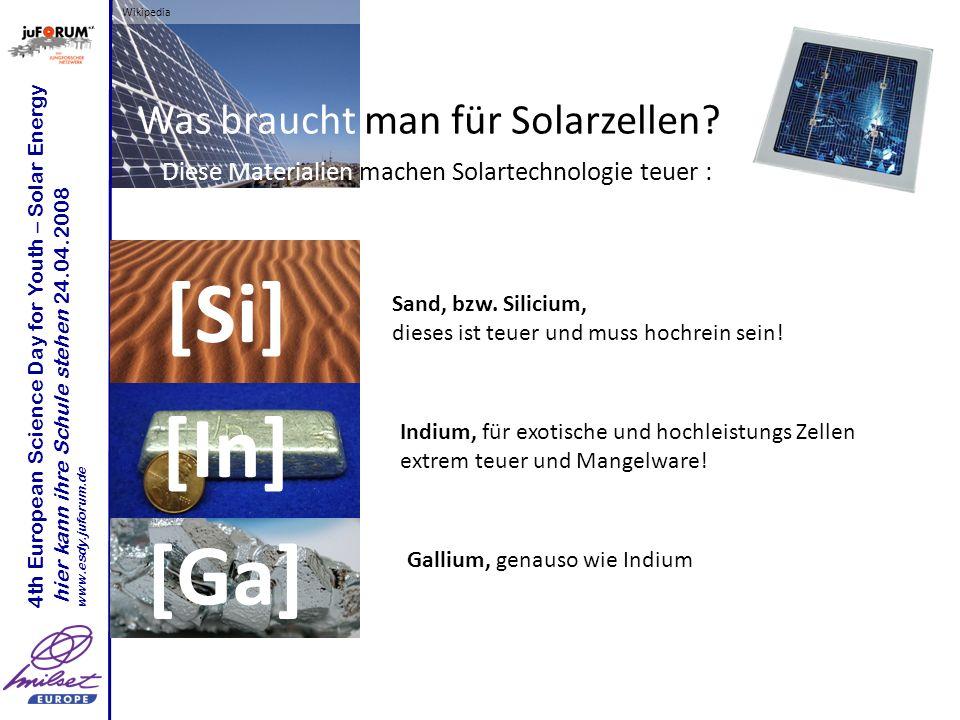 Was braucht man für Solarzellen
