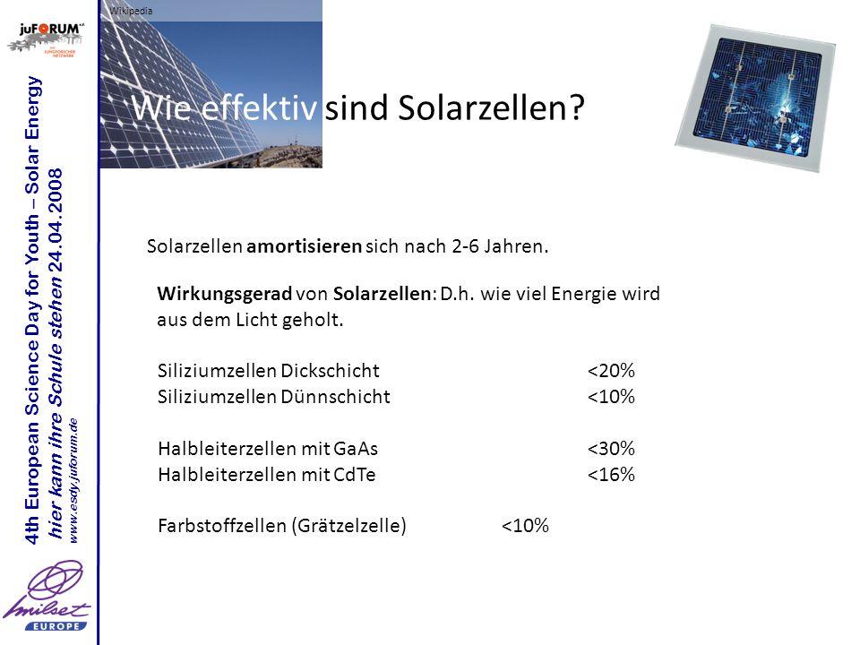 Wie effektiv sind Solarzellen