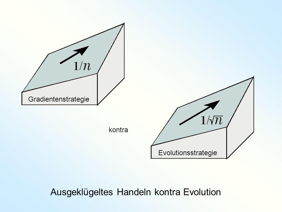 Ausgeklügeltes Handeln kontra Evolution
