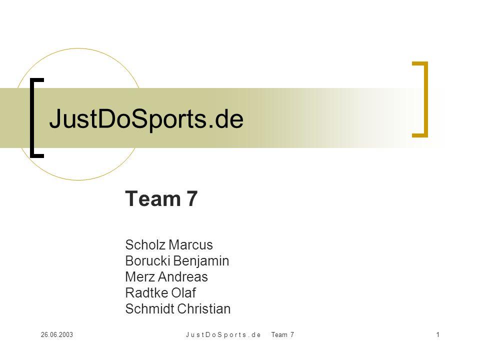 JustDoSports.de Team 7 Scholz Marcus Borucki Benjamin Merz Andreas