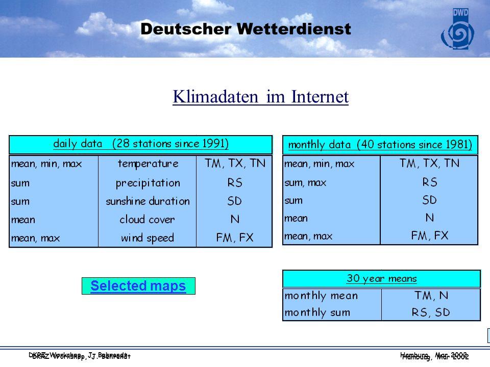 Klimadaten im Internet