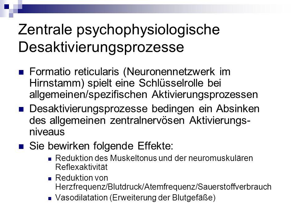 Zentrale psychophysiologische Desaktivierungsprozesse