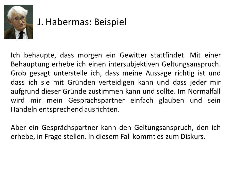 J. Habermas: Beispiel