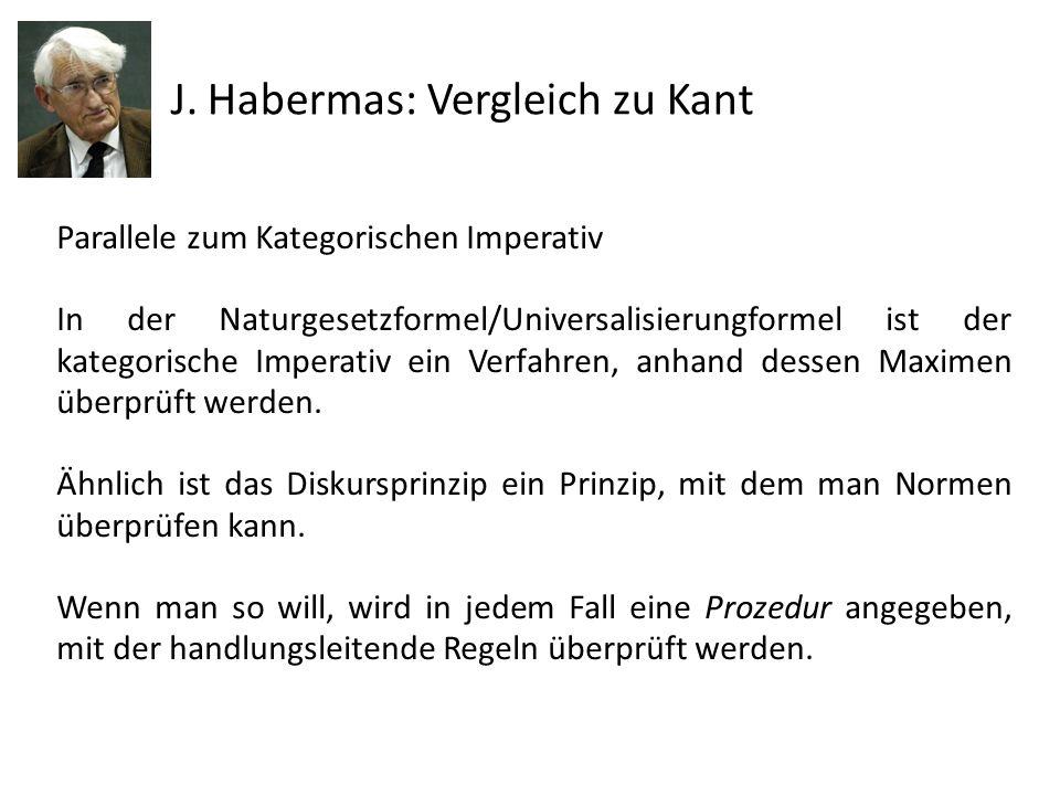 J. Habermas: Vergleich zu Kant