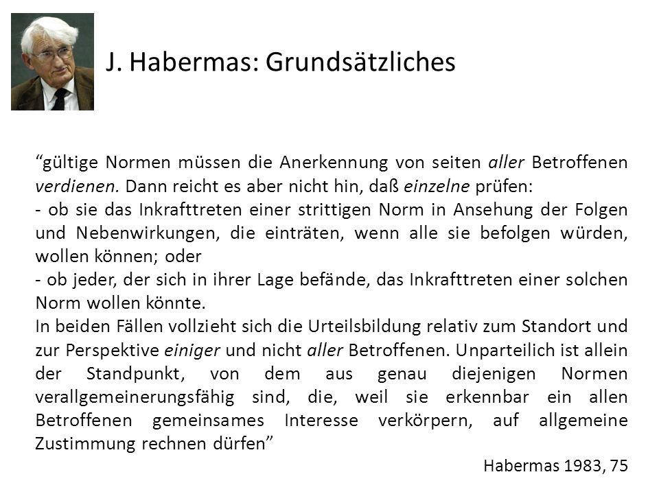 J. Habermas: Grundsätzliches