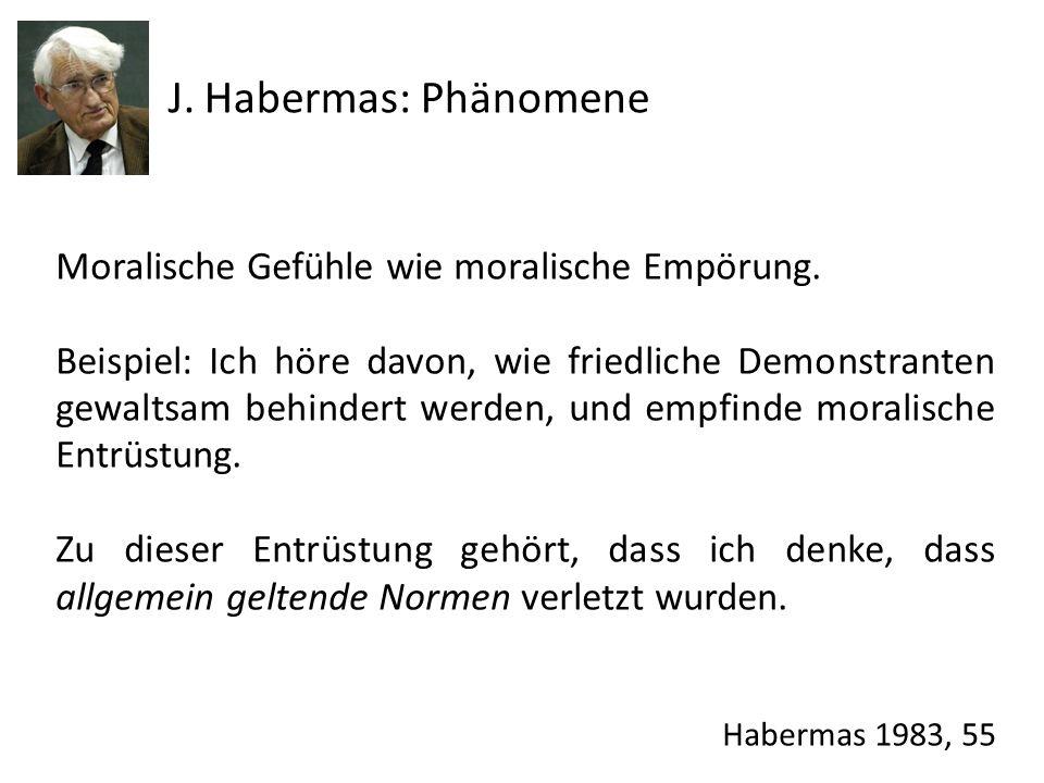J. Habermas: Phänomene Moralische Gefühle wie moralische Empörung.
