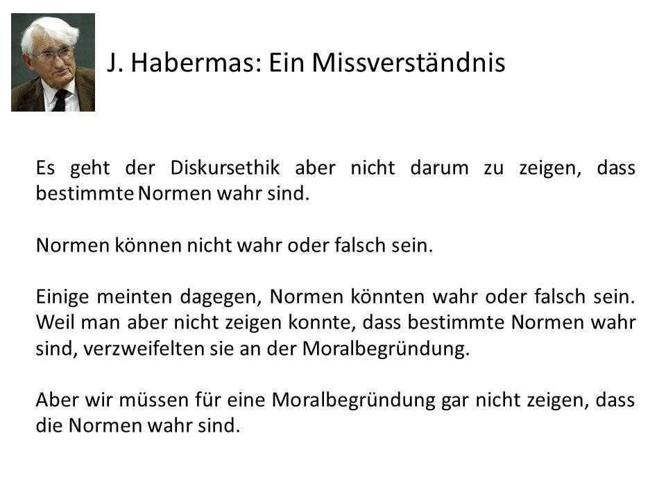 J. Habermas: Ein Missverständnis