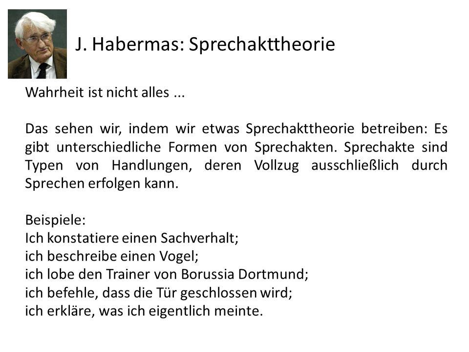 J. Habermas: Sprechakttheorie