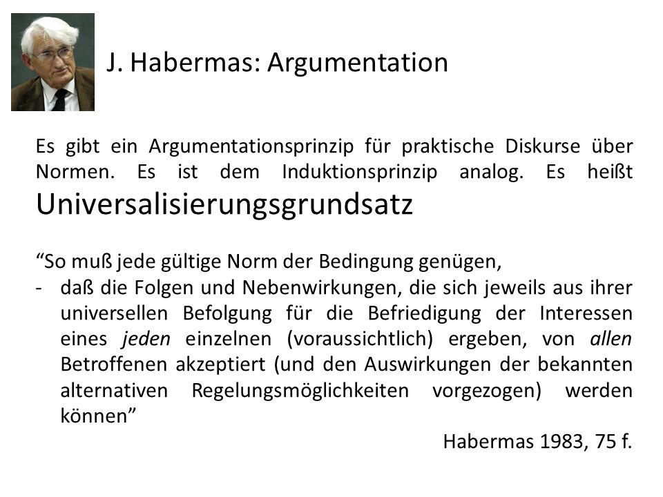 J. Habermas: Argumentation
