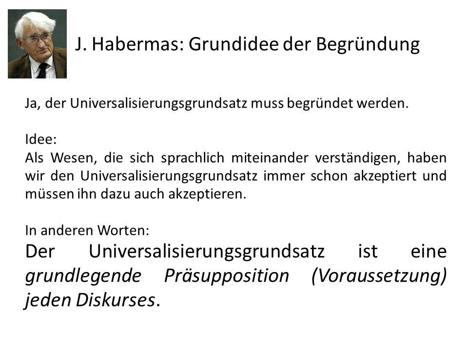 J. Habermas: Grundidee der Begründung