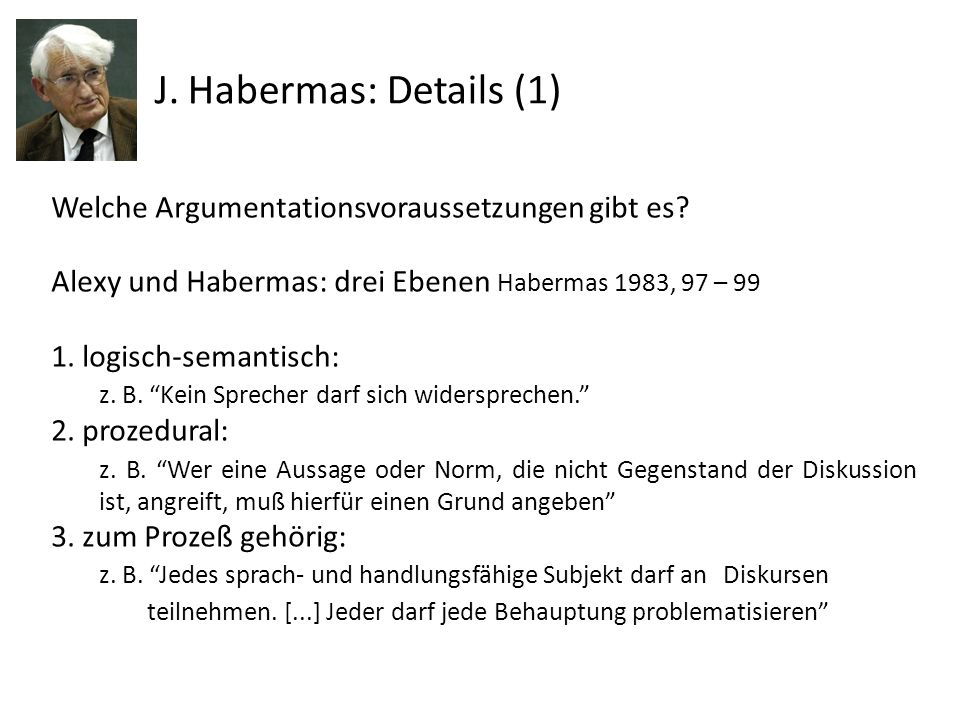 J. Habermas: Details (1)
