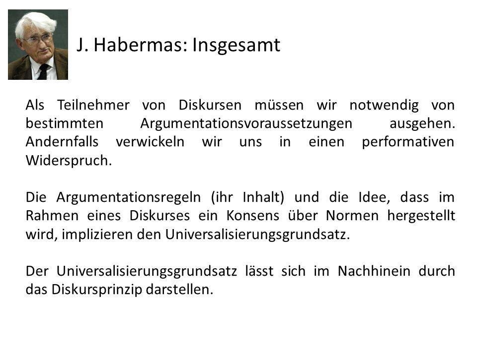 J. Habermas: Insgesamt