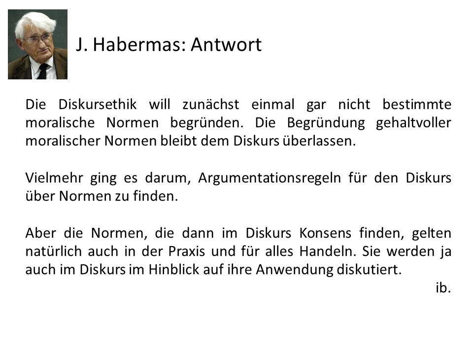 J. Habermas: Antwort