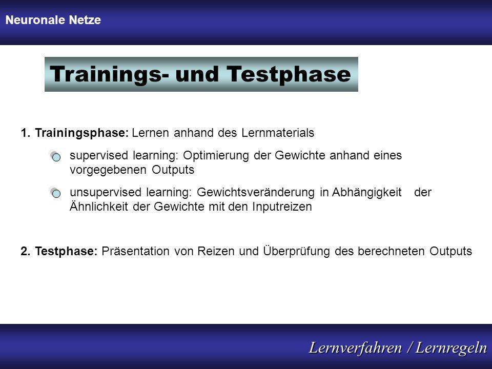Trainings- und Testphase