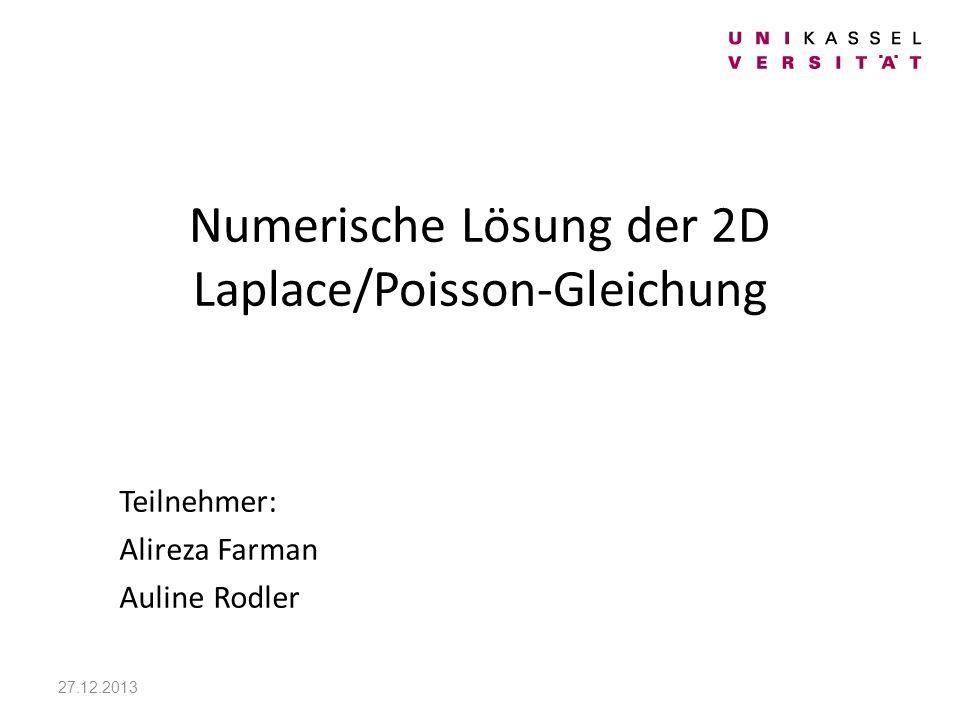 Numerische Lösung der 2D Laplace/Poisson-Gleichung