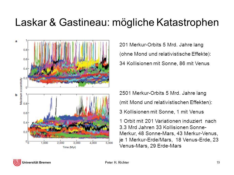 Laskar & Gastineau: mögliche Katastrophen