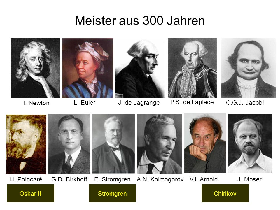 Meister aus 300 Jahren I. Newton L. Euler J. de Lagrange
