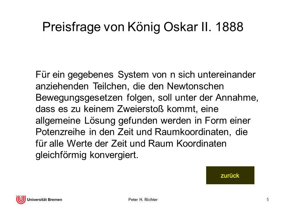 Preisfrage von König Oskar II. 1888